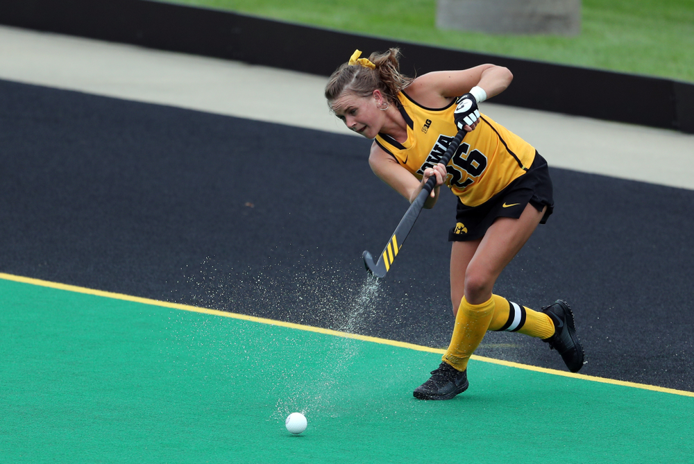 Iowa Hawkeyes forward Maddy Murphy (26) against Columbia Sunday, September 8, 2019 at Grant Field. (Brian Ray/hawkeyesports.com)