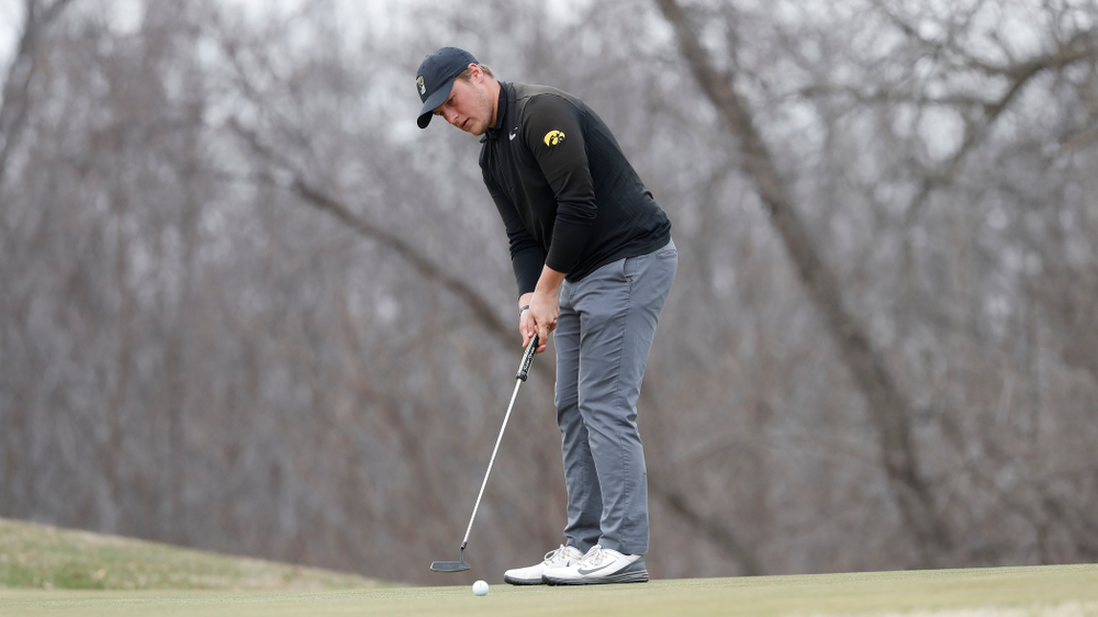 Alex Schaake during the 2018 Hawkeye Invitational  Friday, April 13, 2018 at Finkbine Golf Course. (Brian Ray/hawkeyesports.com)