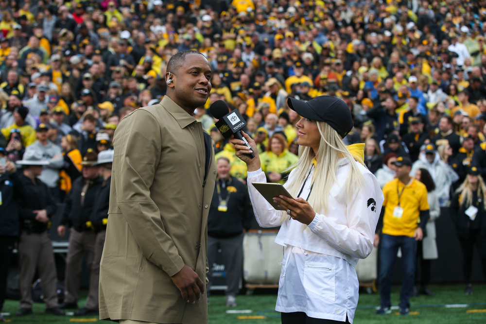 Former Hawkeye B.J. Armstrong during Iowa football vs Purdue on Saturday, October 19, 2019 at Kinnick Stadium. (Lily Smith/hawkeyesports.com)