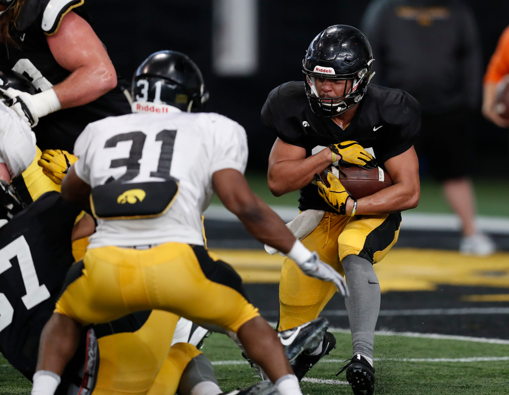 Iowa Hawkeyes running back Ivory Kelly-Martin (21) during spring practice Wednesday, March 28, 2018 at the Hansen Football Performance Center.  (Brian Ray/hawkeyesports.com)
