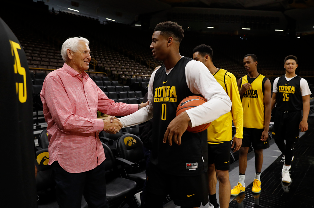 Lute Olson and Ahmad Wagner