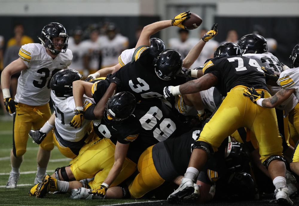 Iowa Hawkeyes fullback Brady Ross (36) during preparation for the 2019 Outback Bowl Wednesday, December 19, 2018 at the Hansen Football Performance Center. (Brian Ray/hawkeyesports.com)