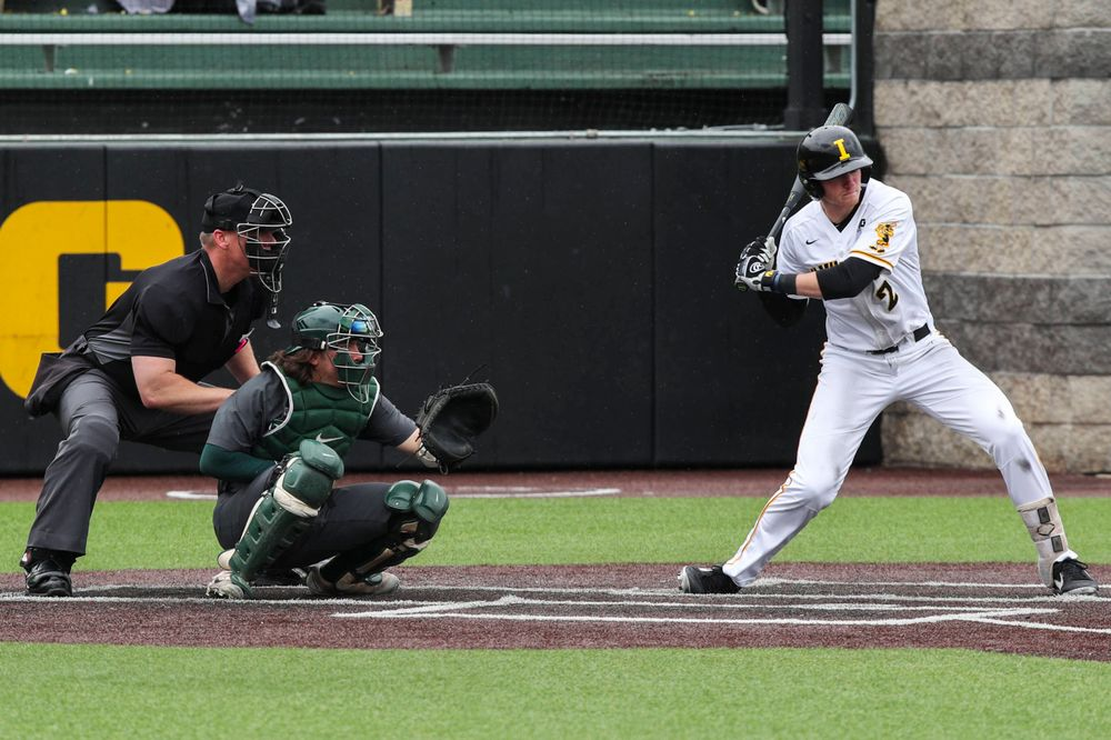 Iowa infielder Brendan Sher  during baseball vs Michigan State game 3 at Duane Banks Field on Sunday, May 12, 2019. (Lily Smith/hawkeyesports.com)