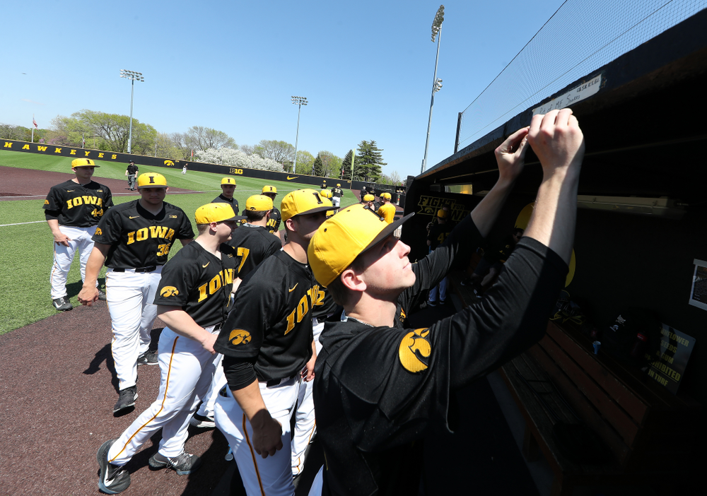 Iowa Hawkeyes Shane Ritter (18) during game two against UC Irvine Saturday, May 4, 2019 at Duane Banks Field. (Brian Ray/hawkeyesports.com)
