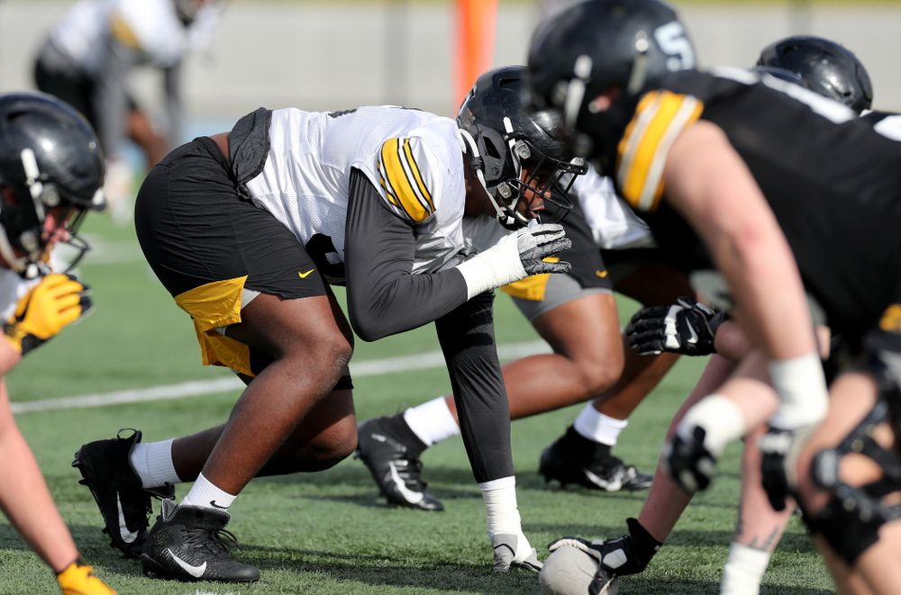 Iowa Hawkeyes defensive lineman Cedrick Lattimore (95) during Holiday Bowl Practice No. 3  Tuesday, December 24, 2019 at San Diego Mesa College. (Brian Ray/hawkeyesports.com)