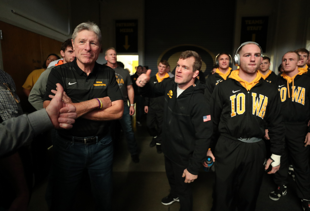 Associate Head Coach Terry Brands against Purdue Saturday, November 24, 2018 at Carver-Hawkeye Arena. (Brian Ray/hawkeyesports.com)