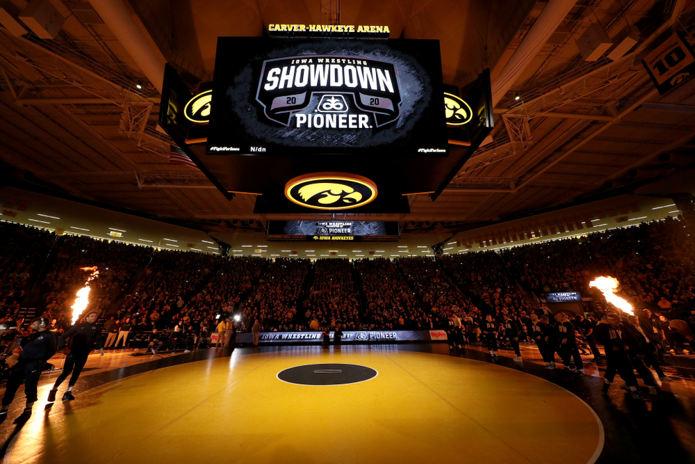The Iowa Hawkeyes wrestle Penn State Friday, January 31, 2020 at Carver-Hawkeye Arena. (Brian Ray/hawkeyesports.com)