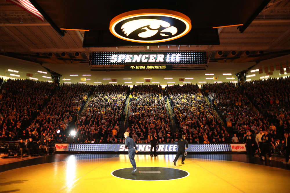 Iowa's Spencer Lee before their meet against Penn State Friday, January 31, 2020 at Carver-Hawkeye Arena. (Brian Ray/hawkeyesports.com)