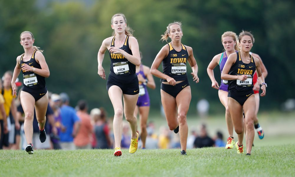 Mary Arch, Ashley Espinosa, Ashley Bryja  during the Hawkeye Invitational Friday, August 31, 2018 at the Ashton Cross Country Course.  (Brian Ray/hawkeyesports.com)