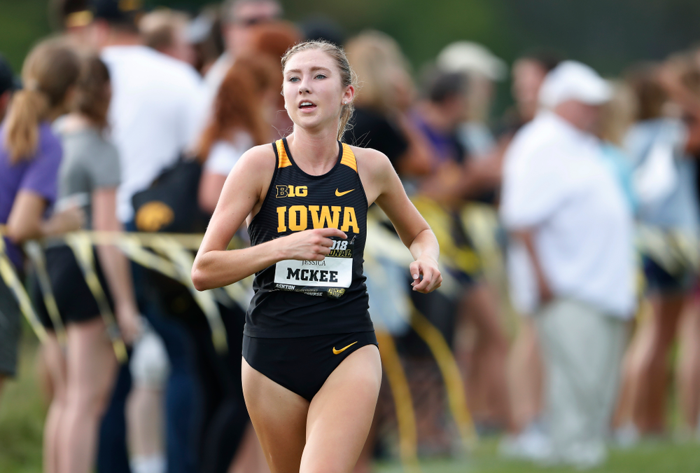 Jessica McKee during the Hawkeye Invitational Friday, August 31, 2018 at the Ashton Cross Country Course.  (Brian Ray/hawkeyesports.com)