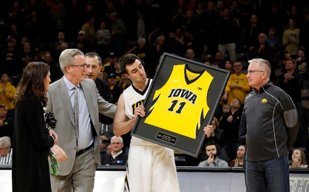 Iowa Hawkeyes forward Charlie Rose (11)