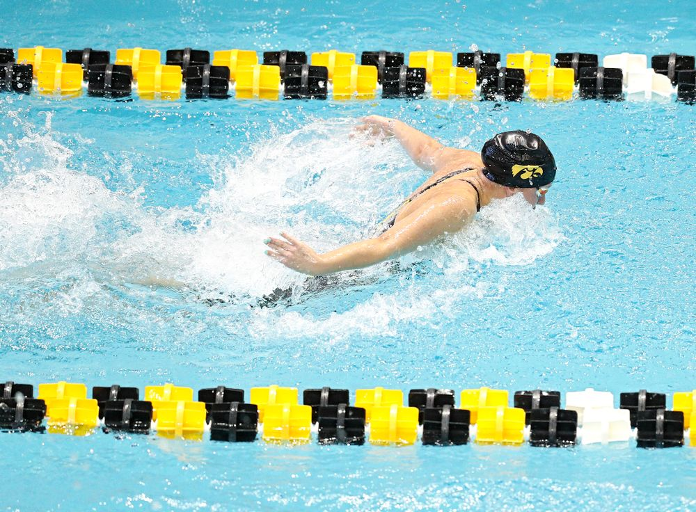 Iowa's Christina Kaufman swims the women's 50 yard freestyle preliminary event during the 2020 Women's Big Ten Swimming and Diving Championships at the Campus Recreation and Wellness Center in Iowa City on Thursday, February 20, 2020. (Stephen Mally/hawkeyesports.com)
