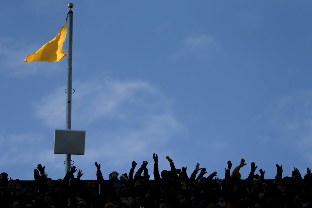 Iowa fans participate in The Wave during Iowa football vs Minnesota on Saturday, November 16, 2019 at Kinnick Stadium. (Lily Smith/hawkeyesports.com)