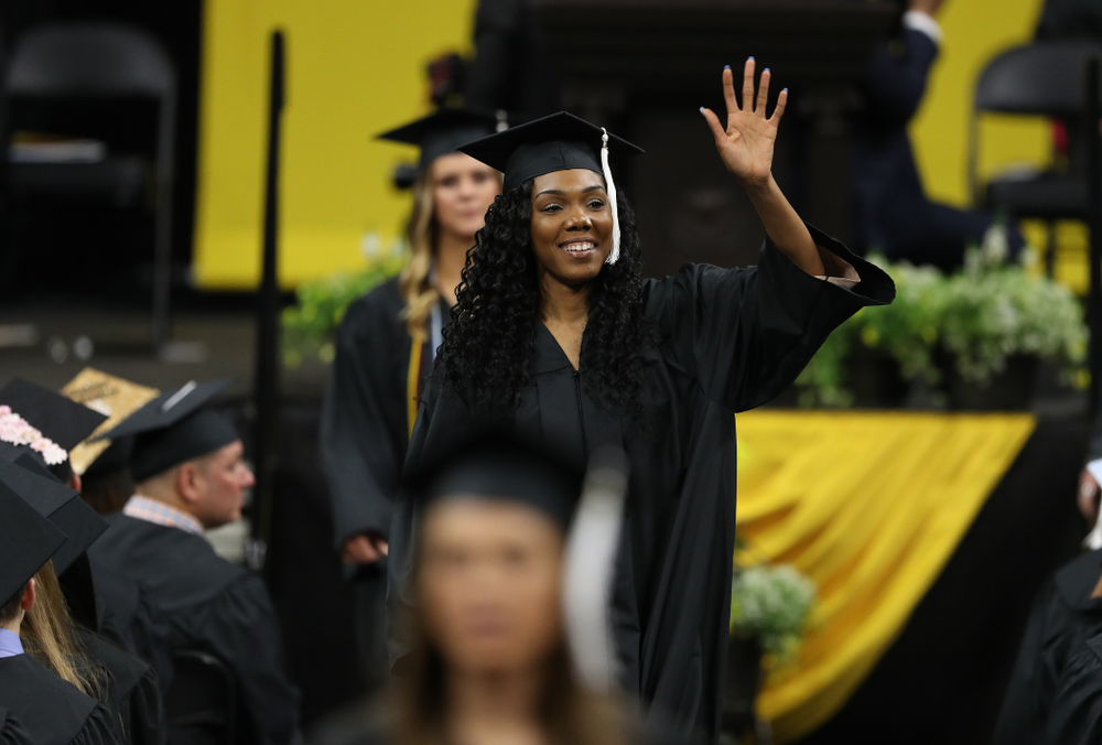 Iowa VolleyballÕs Taylor Lewis during the College of Liberal Arts and Sciences spring commencement Saturday, May 11, 2019 at Carver-Hawkeye Arena. (Brian Ray/hawkeyesports.com)