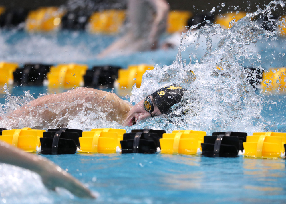 Iowa's Michael Tenney swims in the preliminaries of the 500-yard freestyle during the 2019 Big Ten Swimming and Diving Championships Thursday, February 28, 2019 at the Campus Wellness and Recreation Center. (Brian Ray/hawkeyesports.com)