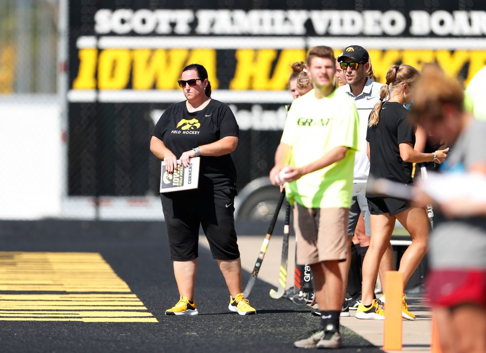 Iowa Hawkeyes head coach Lisa Cellucci against the Penn Quakers Friday, September 14, 2018 at Grant Field. (Brian Ray/hawkeyesports.com)