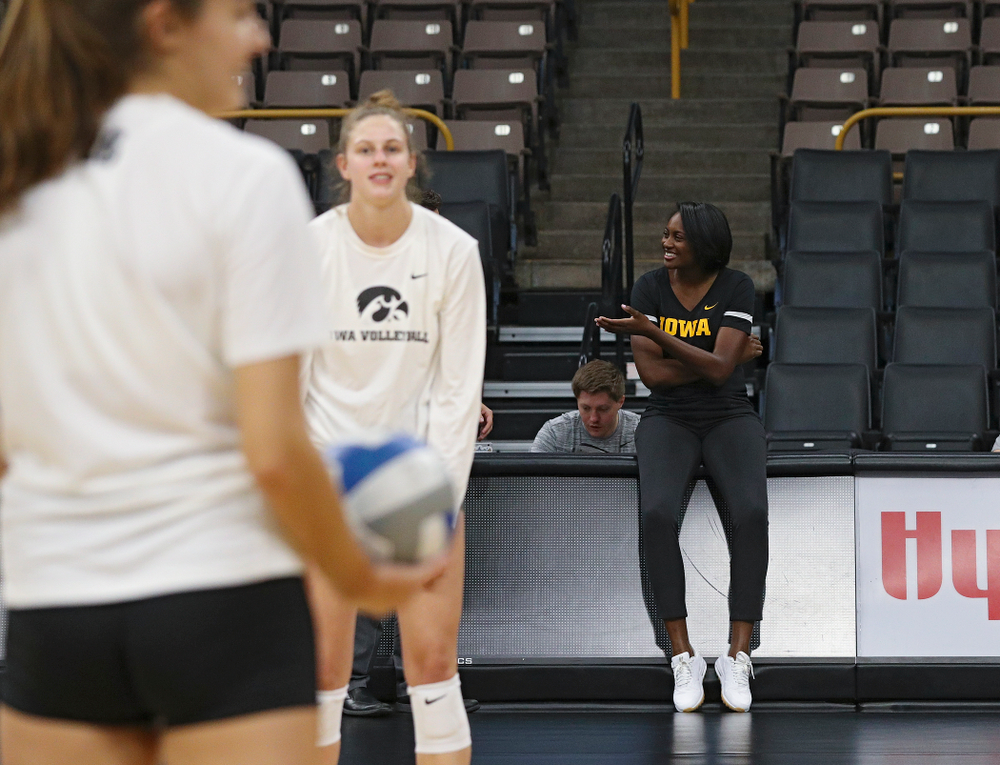 Iowa interim head coach Vicki Brown during Iowa Volleyball's Media Day at Carver-Hawkeye Arena in Iowa City on Friday, Aug 23, 2019. (Stephen Mally/hawkeyesports.com)