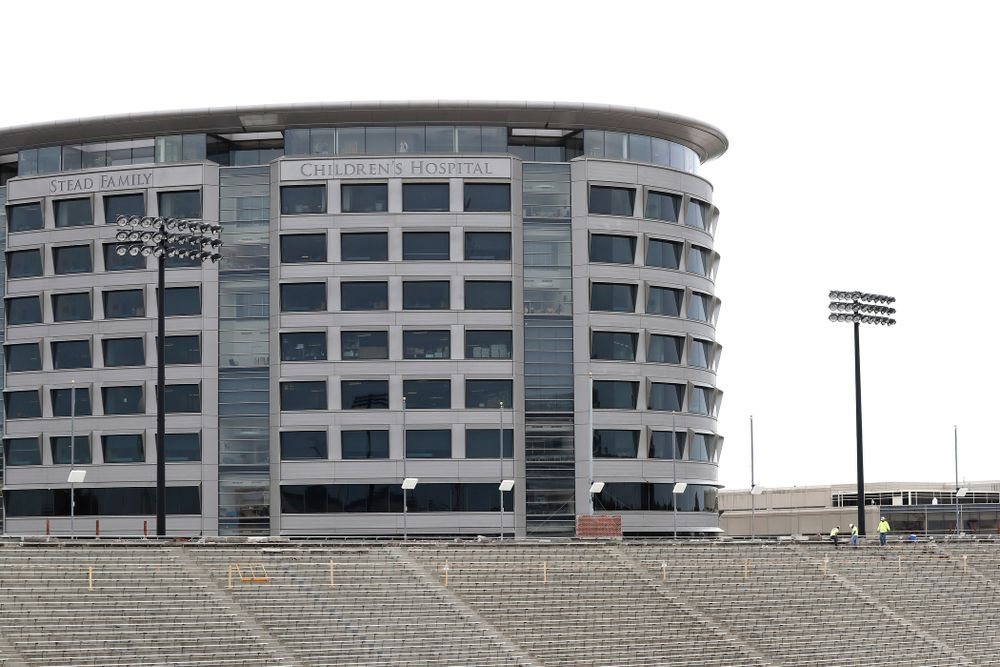 The Stead Family Children's Hospital as seen from the third deck of the north end zone Wednesday, June 6, 2018 at Kinnick Stadium. (Brian Ray/hawkeyesports.com)