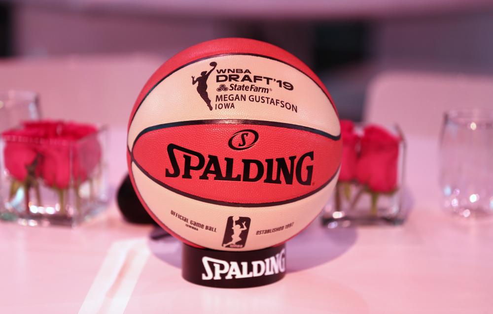 Iowa Hawkeyes forward Megan Gustafson (10) at the 2019 WNBA Draft Wednesday, April 10, 2019 at Nike New York Headquarters in New York City. (Brian Ray/hawkeyesports.com)