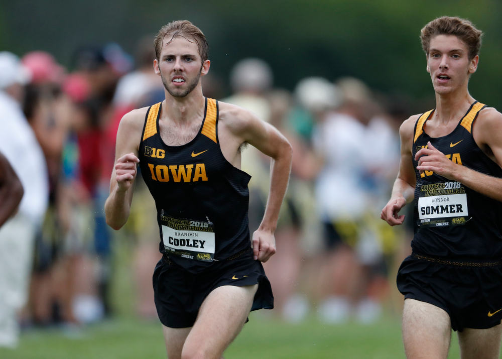 Brandon Cooley during the Hawkeye Invitational Friday, August 31, 2018 at the Ashton Cross Country Course.  (Brian Ray/hawkeyesports.com)