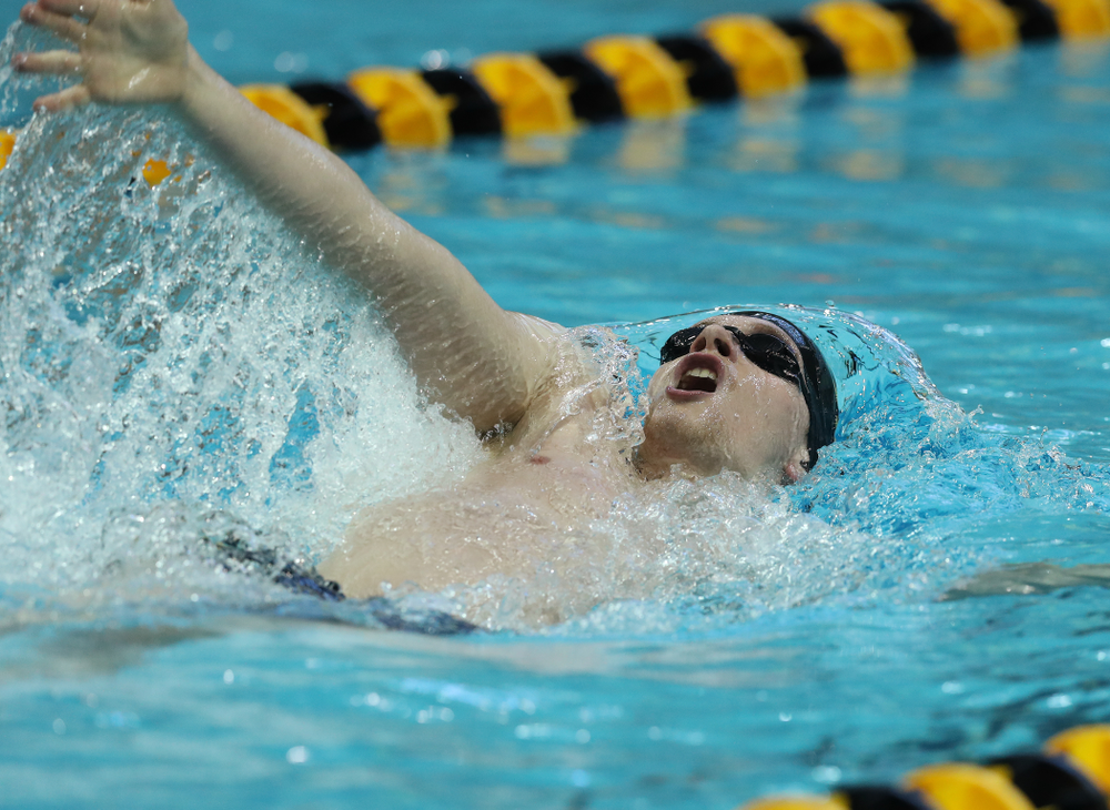 Iowa's Jacob Rosenkoetter swims the 200 yard Individual Medley Thursday, November 15, 2018 during the 2018 Hawkeye Invitational at the Campus Recreation and Wellness Center. (Brian Ray/hawkeyesports.com)