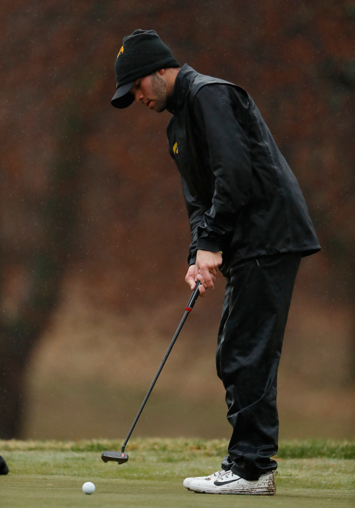 Iowa's Alex Moorman during day two of the 2018 Hawkeye Invitational Friday, April 13, 2018 at Finkbine Golf Course. (Brian Ray/hawkeyesports.com)