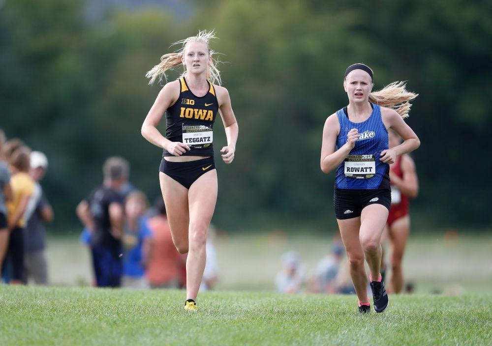 Patty Teggatz during the Hawkeye Invitational Friday, August 31, 2018 at the Ashton Cross Country Course.  (Brian Ray/hawkeyesports.com)