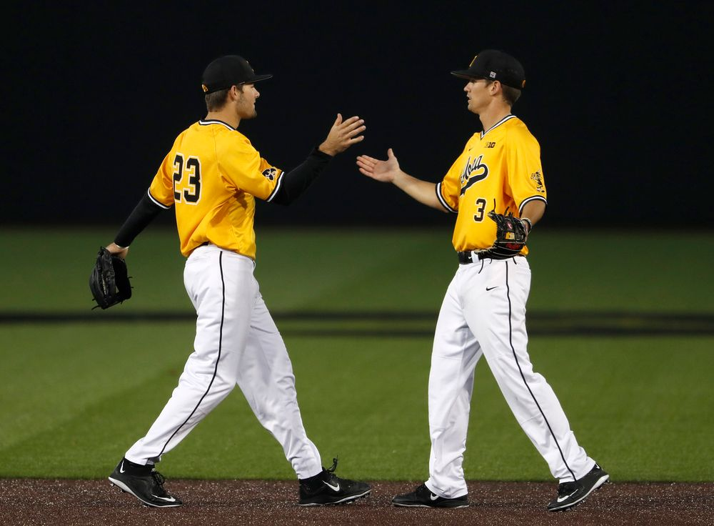 Kyle Crowl (23) and Matt Hoeg (3)