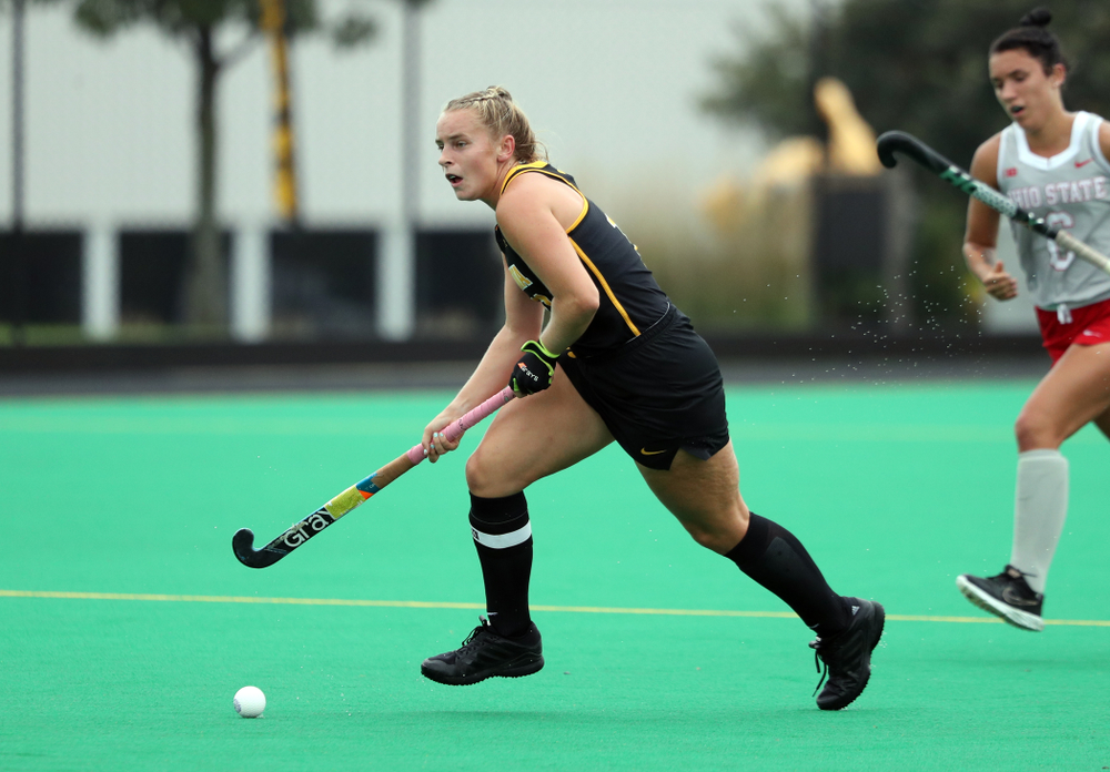 Iowa Hawkeyes Katie Birch (11) during a 2-1 victory against the Ohio State Buckeyes Friday, September 27, 2019 at Grant Field. (Brian Ray/hawkeyesports.com)