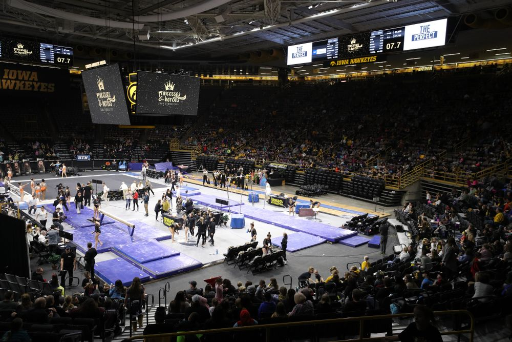 The Iowa Hawkeyes against Illinois Saturday, February 16, 2019 at Carver-Hawkeye Arena. (Brian Ray/hawkeyesports.com)