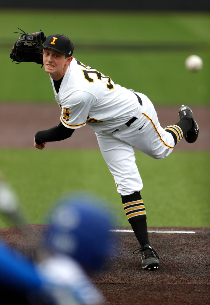 Iowa Hawkeyes pitcher Trenton Wallace (38)