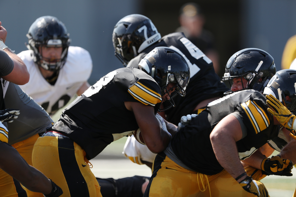 Iowa Hawkeyes running back Toren Young (28) during Fall Camp Practice No. 5 Tuesday, August 6, 2019 at the Ronald D. and Margaret L. Kenyon Football Practice Facility. (Brian Ray/hawkeyesports.com)