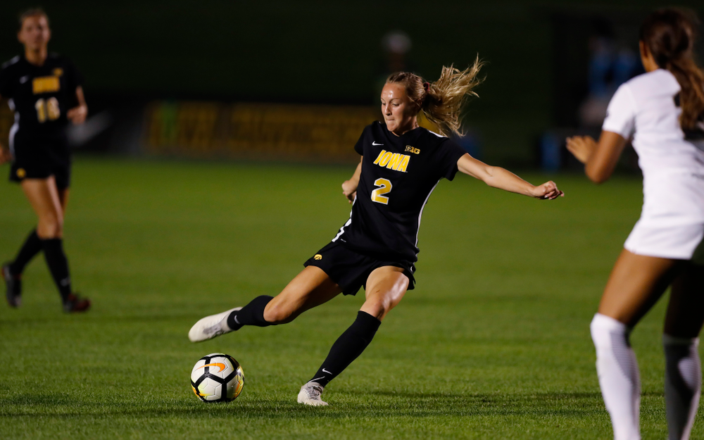 Iowa Hawkeyes Hailey Rydberg (2) against the Purdue Boilermakers Thursday, September 20, 2018 at the Iowa Soccer Complex. (Brian Ray/hawkeyesports.com)