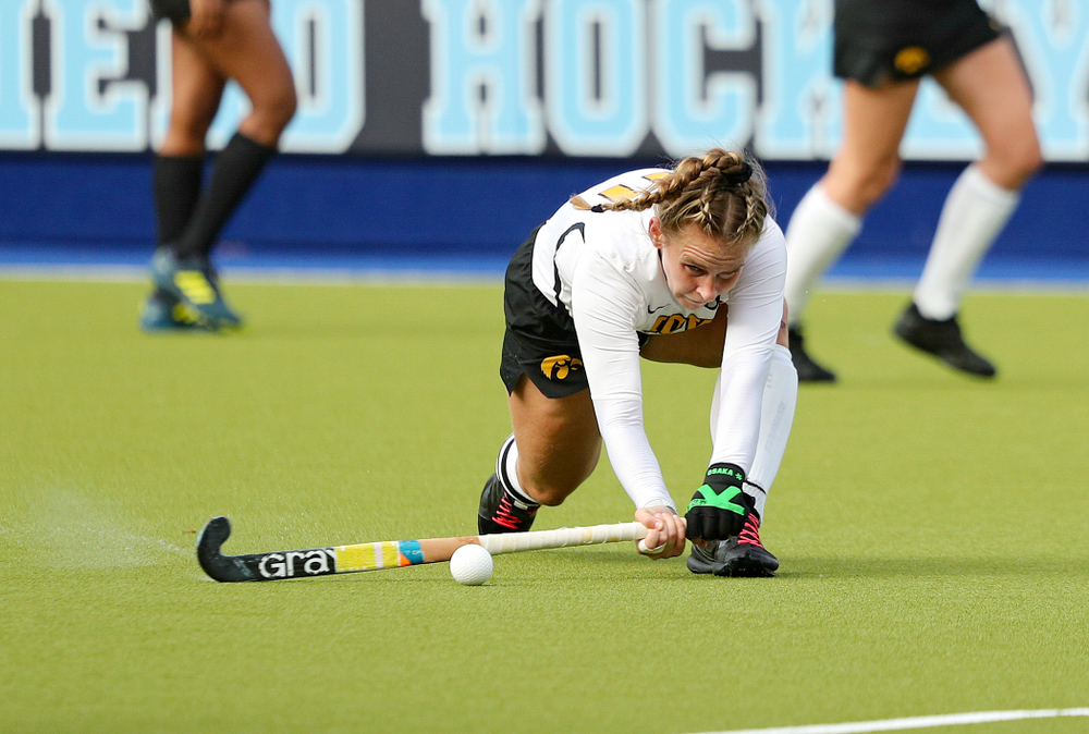 Iowa's Katie Birch (11) lines up a shot during the fourth quarter of their NCAA Tournament Second Round match against North Carolina at Karen Shelton Stadium in Chapel Hill, N.C. on Sunday, Nov 17, 2019. (Stephen Mally/hawkeyesports.com)