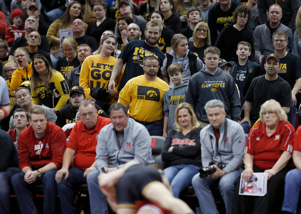 A lot of black and gold in the Devaney Center