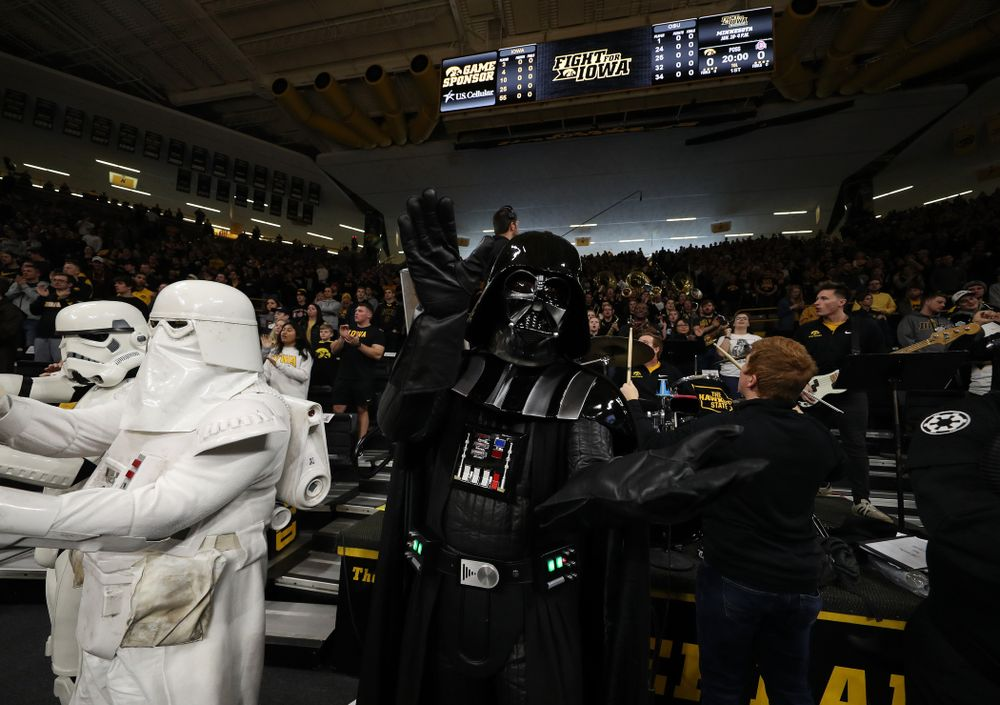 Darth Vader during Star Wars Day against the Ohio State Buckeyes Saturday, January 12, 2019 at Carver-Hawkeye Arena. (Brian Ray/hawkeyesports.com)