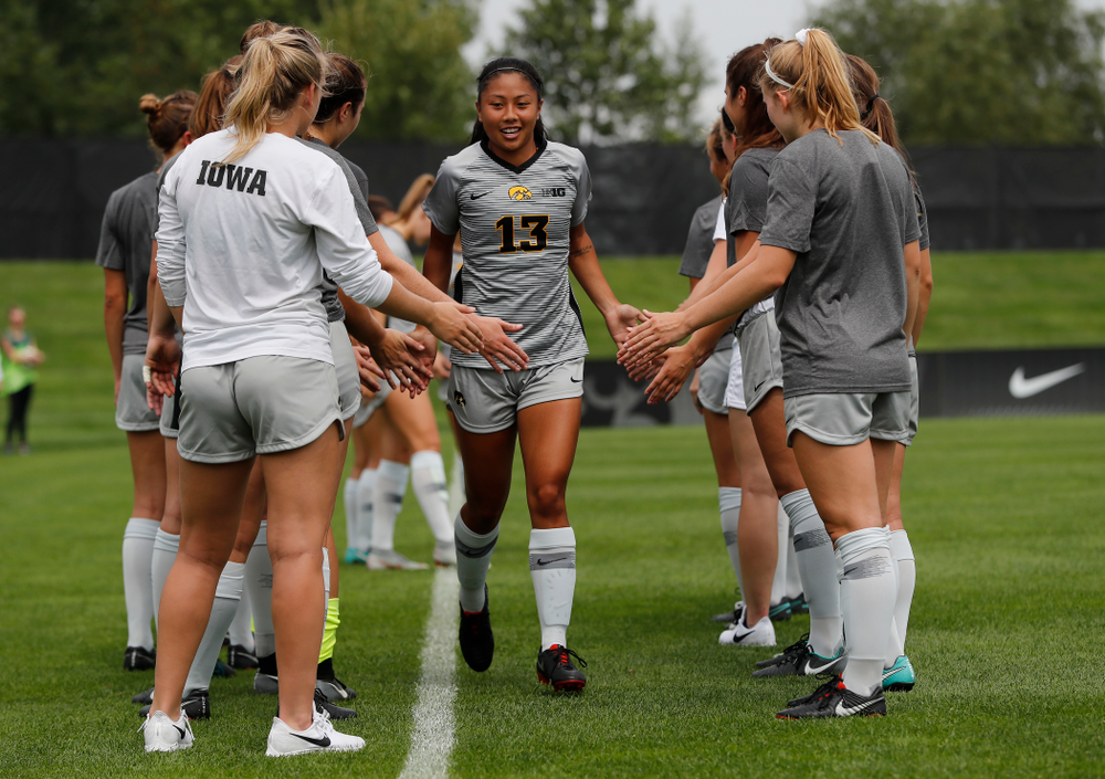 Iowa Hawkeyes Bianca Acuario (13) against Indiana State Sunday, August 26, 2018 at the Iowa Soccer Complex. (Brian Ray/hawkeyesports.com)