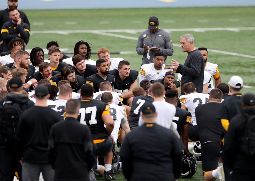 Iowa Hawkeyes head coach Kirk Ferentz during practice Sunday, December 22, 2019 at Mesa College in San Diego. (Brian Ray/hawkeyesports.com)
