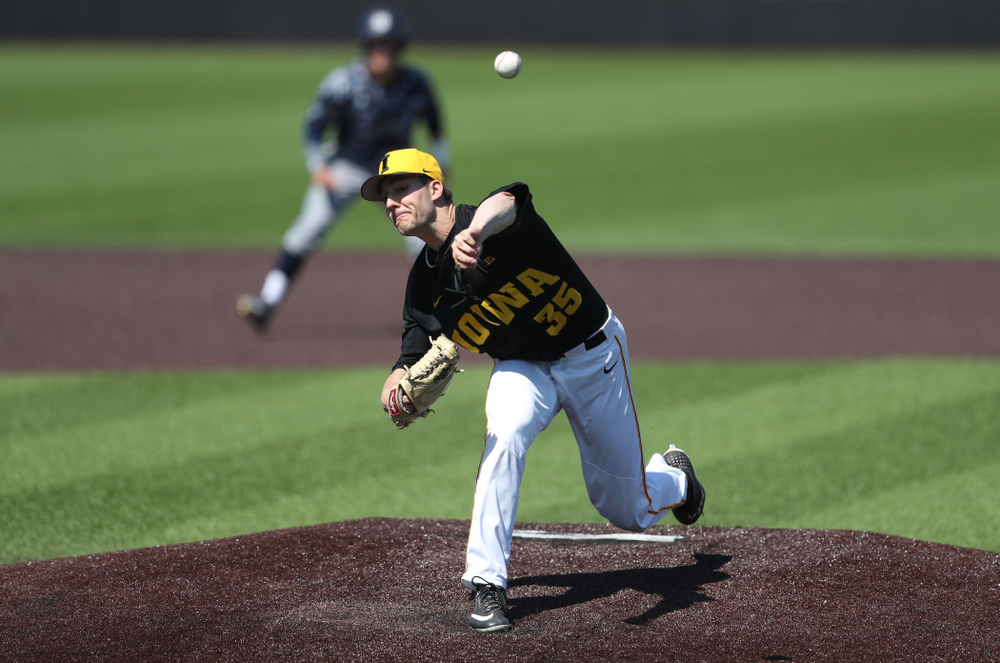 during game two against UC Irvine Saturday, May 4, 2019 at Duane Banks Field. (Brian Ray/hawkeyesports.com)