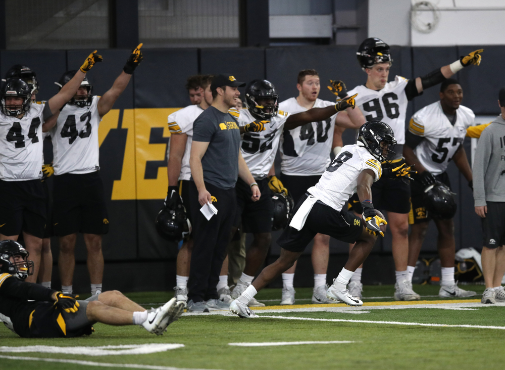 Iowa Hawkeyes defensive back Matt Hankins (8) during preparation for the 2019 Outback Bowl Tuesday, December 18, 2018 at the Hansen Football Performance Center. (Brian Ray/hawkeyesports.com)