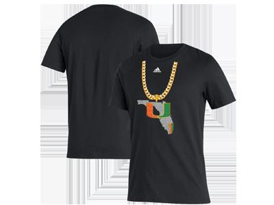 adidas Miami Hurricanes Turnover Chain Amplifier T-Shirt