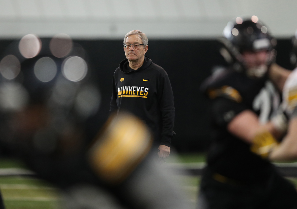 Iowa Hawkeyes head coach Kirk Ferentz during preparation for the 2019 Outback Bowl Tuesday, December 18, 2018 at the Hansen Football Performance Center. (Brian Ray/hawkeyesports.com)