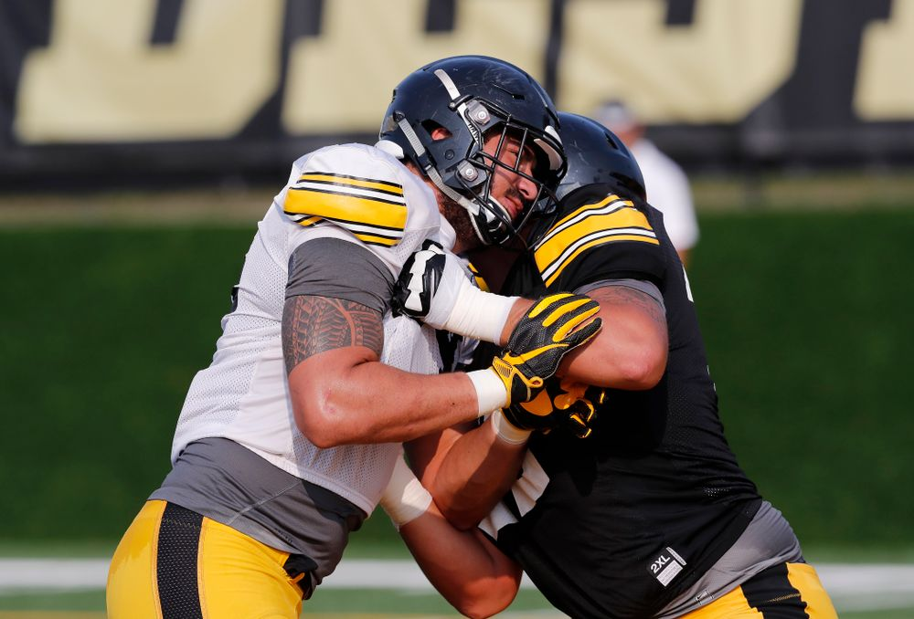 Iowa Hawkeyes defensive end A.J. Epenesa (94) during camp practice No. 16 Tuesday, August 21, 2018 at the Hansen Football Performance Center. (Brian Ray/hawkeyesports.com)