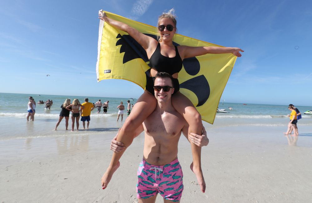 Fans of the Iowa Hawkeyes during the Outback Bowl Beach Day Sunday, December 30, 2018 at Clearwater Beach. (Brian Ray/hawkeyesports.com)