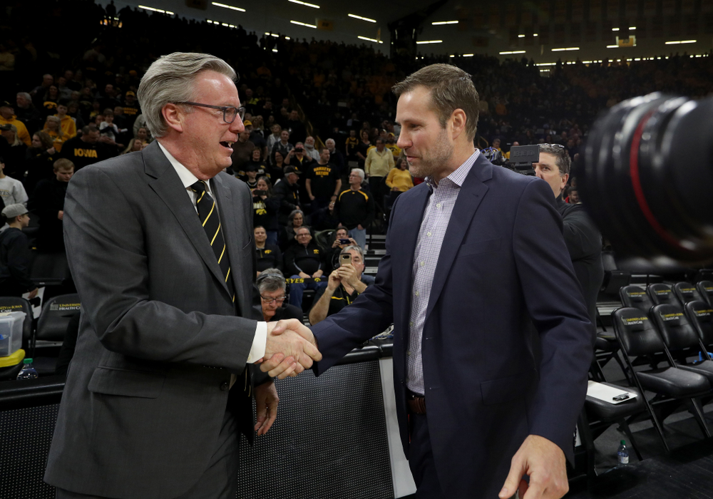 Iowa Hawkeyes head coach Fran McCaffery and Nebraska Head Coach Fred Hoiberg Saturday, February 8, 2020 at Carver-Hawkeye Arena. (Brian Ray/hawkeyesports.com)