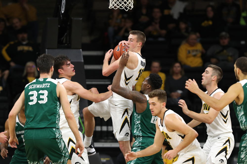 Iowa Hawkeyes guard Joe Wieskamp (10) against UW Green Bay Sunday, November 11, 2018 at Carver-Hawkeye Arena. (Brian Ray/hawkeyesports.com)