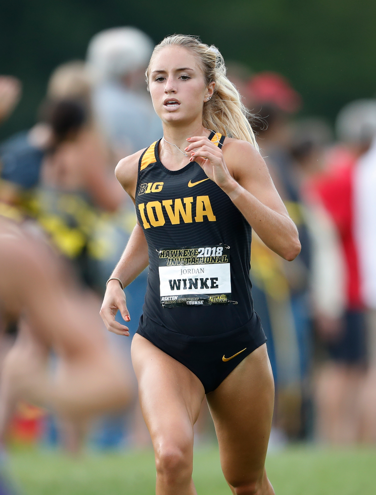 Jordan Winke during the Hawkeye Invitational Friday, August 31, 2018 at the Ashton Cross Country Course.  (Brian Ray/hawkeyesports.com)