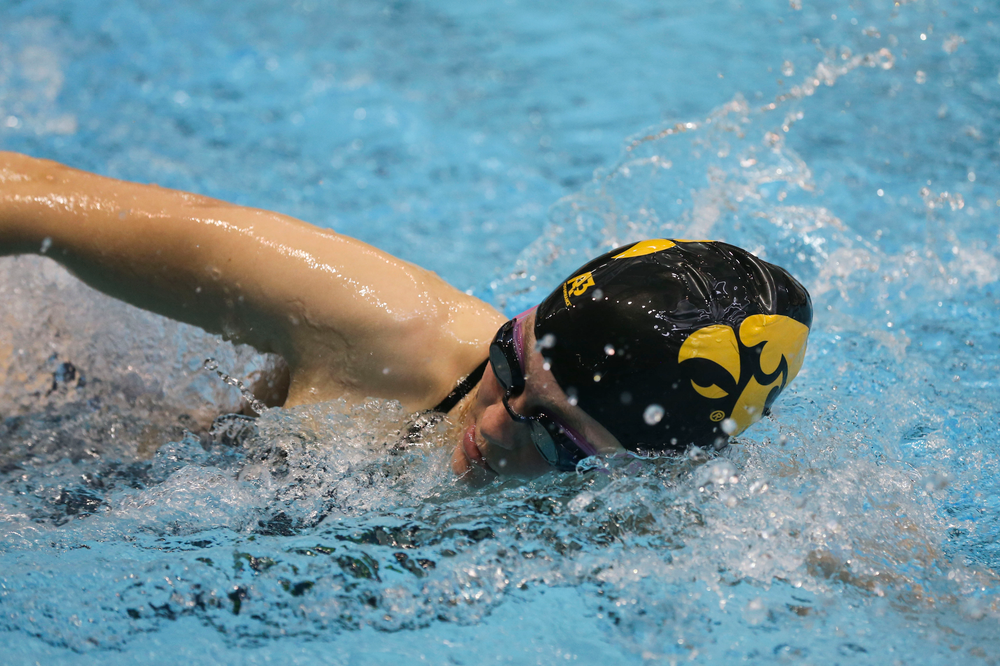 Iowa's Alleyna Thomas during Iowa swim and dive vs Minnesota on Saturday, October 26, 2019 at the Campus Wellness and Recreation Center. (Lily Smith/hawkeyesports.com)