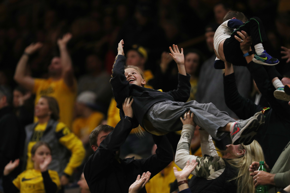 Fans  against the Nebraska Cornhuskers Saturday, February 8, 2020 at Carver-Hawkeye Arena. (Brian Ray/hawkeyesports.com)