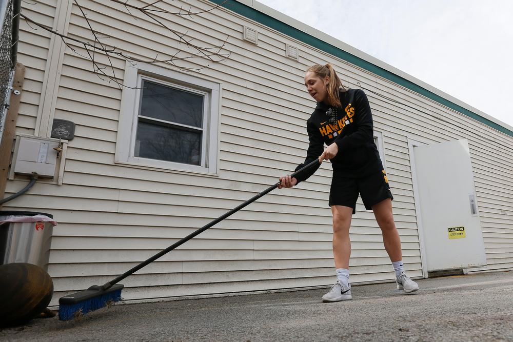 Iowa women's basketball player Kathleen Doyle